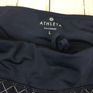 Athleta Shorts - Athleta Blue Patterned Large Athletic Shorts